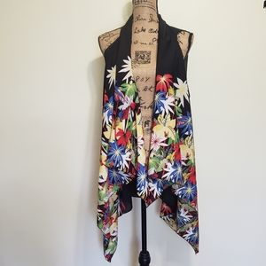 Kimono Asymmetrical Draped Swim Swim Cover…